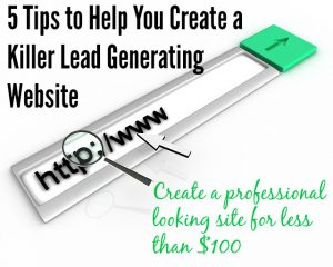 How to Create a Top Quality Lead Generating Website For Less Than $100