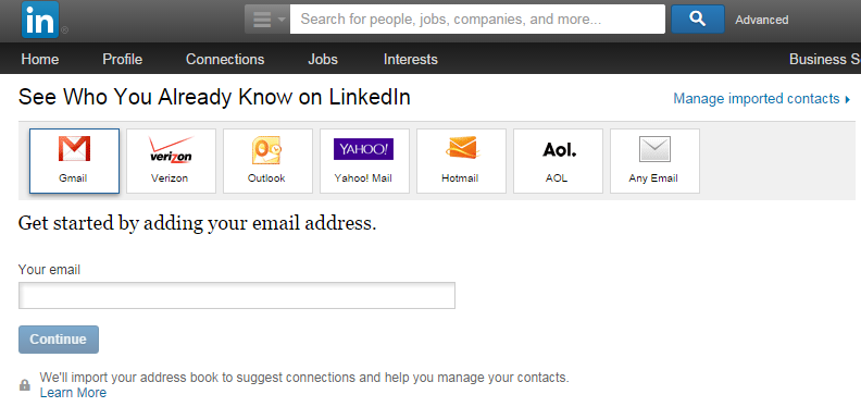 linkedinimportingcontacts