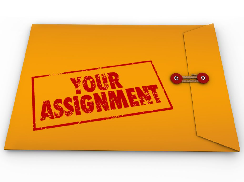 Your Assignment Task Yellow Envelope Secret Instructions