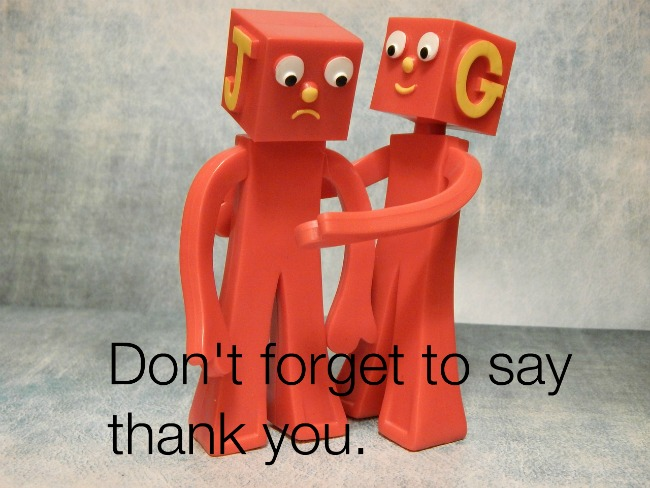 Don't forget to say thank you!