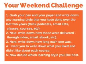 85 weekend challenge 5