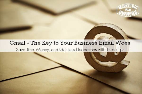 E-mail @ symbol on brown business letters