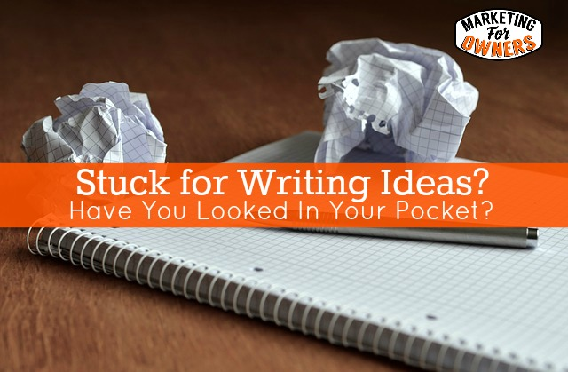 pocket writing ideas