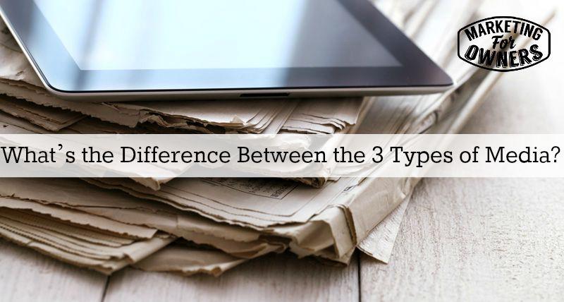 3 types of media