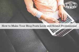 How to Make Your Blog Posts Look and Sound Professional