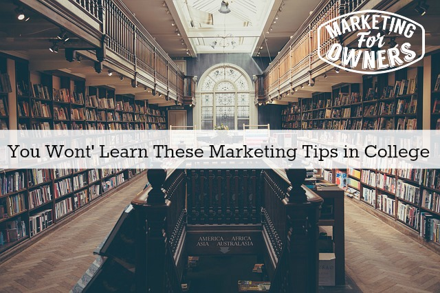 marketing tips in college