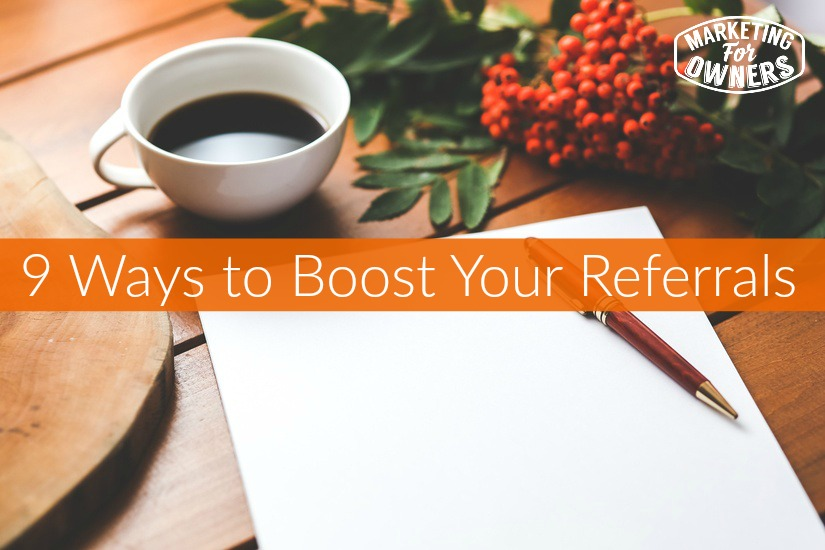 boost your referrals