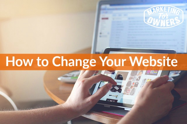 how to change your website