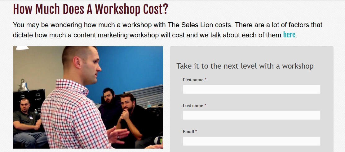 workshop sales lion
