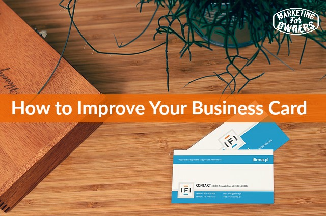 327 improve your business card