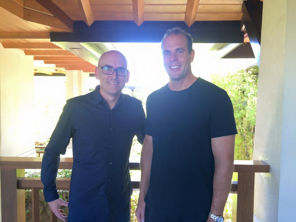 James with Problogger Darren Rowse