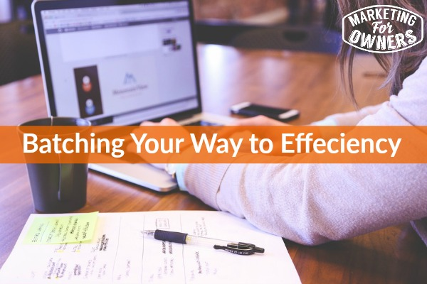 batching your way to effeciency