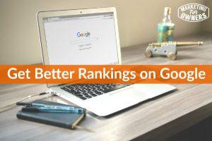 get better rankings on google