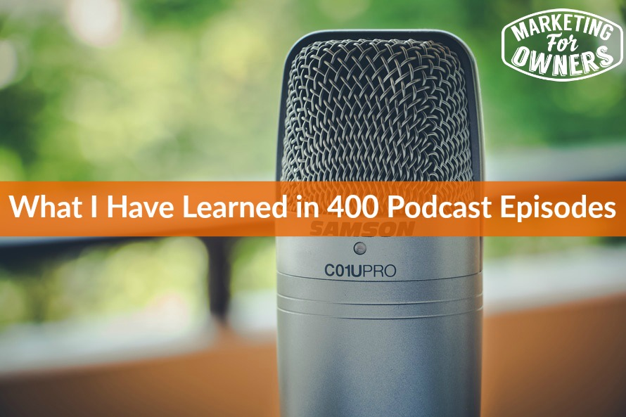 400 podcast episodes