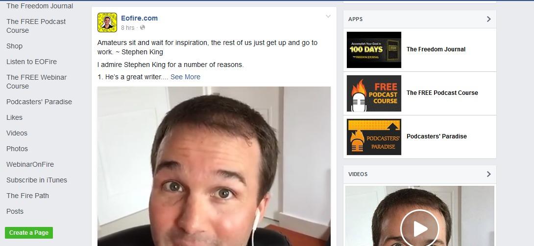 eofire facebook page