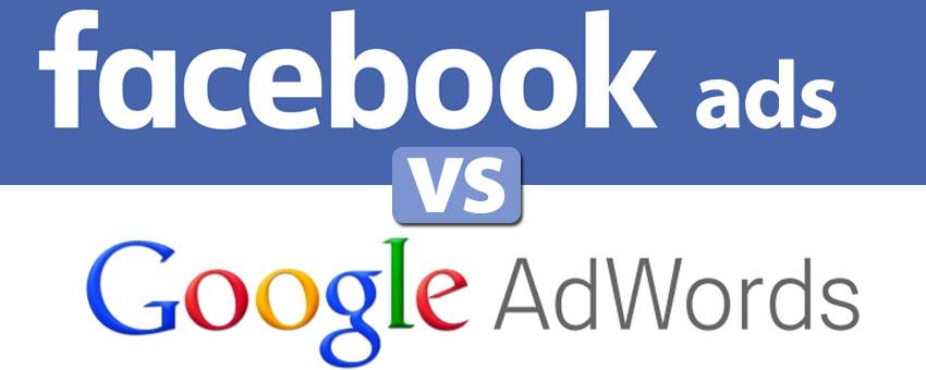 Kết quả hình ảnh cho google adwords và facebook ads