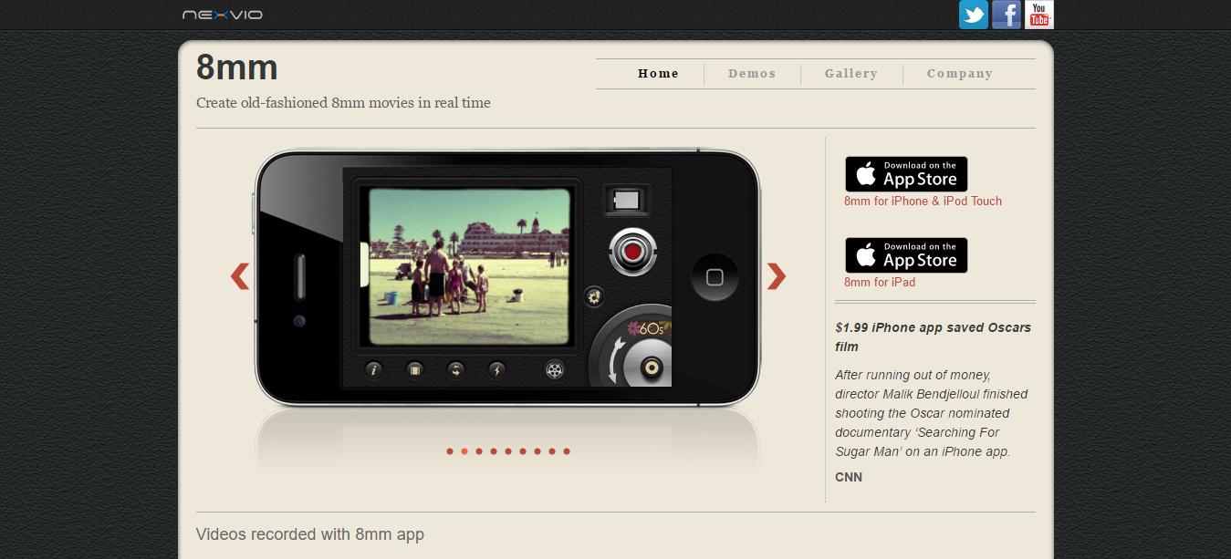 8mm App - Nexvio.clipular