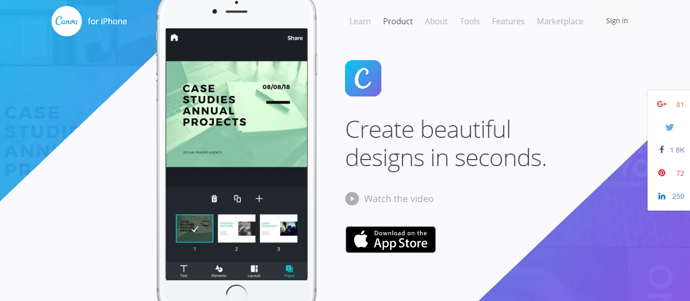 Canva iPhone app - Professional designs on the go.clipular