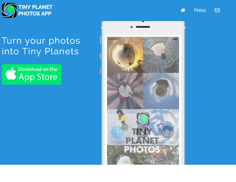 Tiny planet photos app - make stereographic photos on your iphone, ipod and ipad..clipular