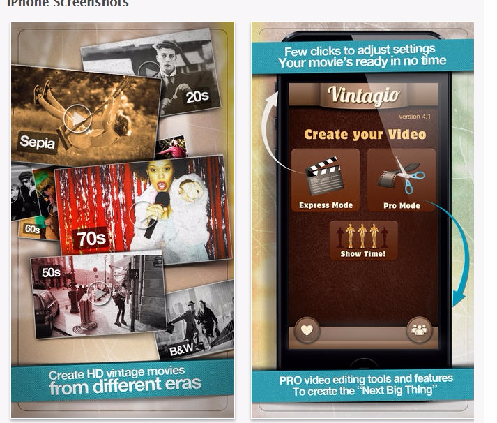 Vintagio on the App Store.clipular